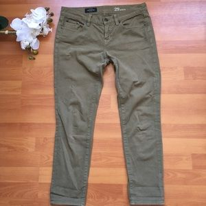 J. Crew toothpick ankle jeans in olive - 29